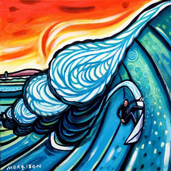 "Phillip Morrison - ""Celtic Surfer"" SOLD   Daily Surf Art"
