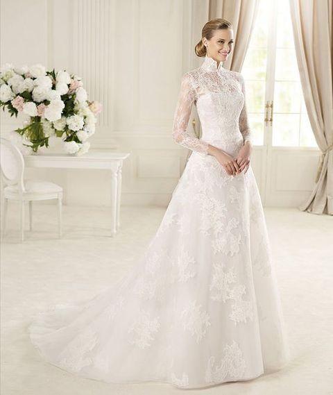 Turtleneck Wedding Dresses For Modest Brides Hywedd Pinoftheday