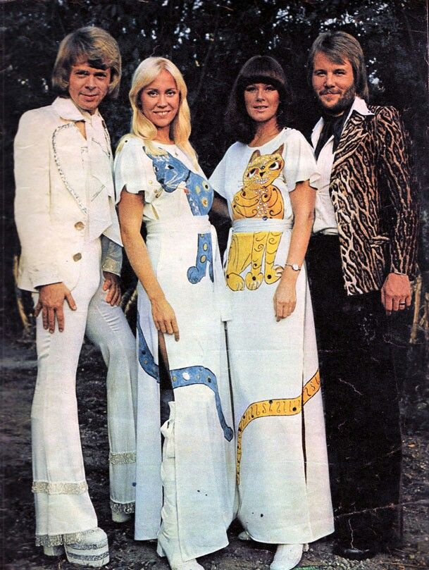 Abba's music is fantastic! AND THEY HAVE CATS ON THEIR JUMPSUITS