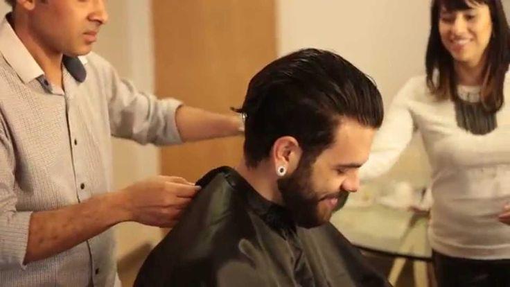 Cabelo masculino   Selagem, hidratação Redken e corte de cabelo