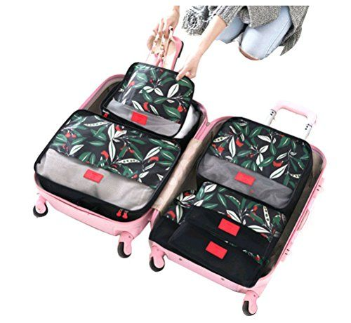 cd9d23bdf017 NAGU 6 Set Packing Cubes,Compression Travel Luggage Organizers with ...