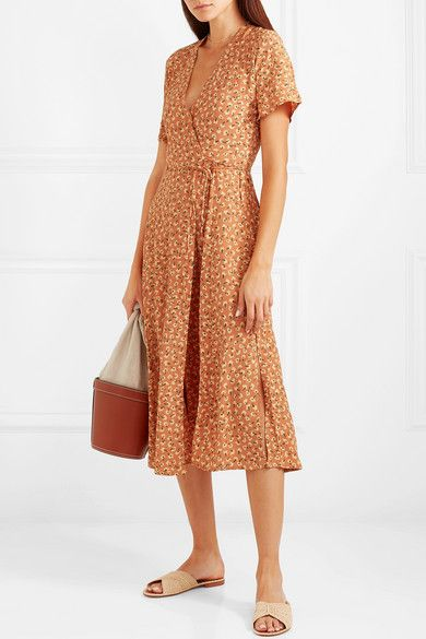 3f9122aa Faithfull The Brand | Leila floral-print crepe wrap dress | NET-A-PORTER.COM