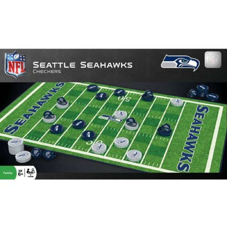 NFL Seattle Seahawks Team Checkers