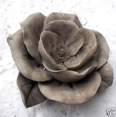 Rubber latex w plastic backup rose mold mould concrete for Concrete craft molds