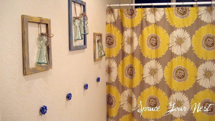 Spruce Your Nest: Pinterest Inspired Bathroom #DIY #home decor