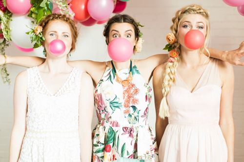 Flamingo Pop. A bridal collaboration with BHLDN and The House That Lars Built. Dresses from  BHLDN. Top from Anthro. Hair by Jessie M.  Phot...