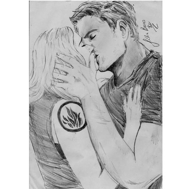 """Wow that's a good drawing of tris and tobias 
