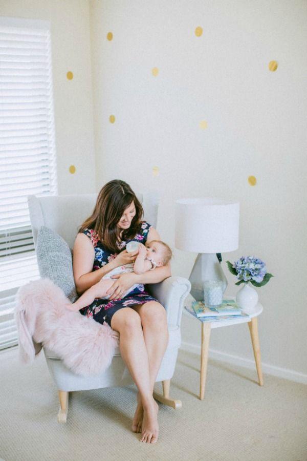 Nursing Rocking chair - 8 Breastfeeding Essentials #handmadekids