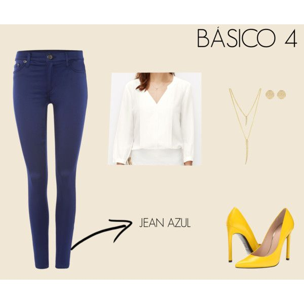 BASICO JEAN AZUL by marisol-fernandez-zumba on Polyvore featuring polyvore fashion style Ann Taylor True Religion Stuart Weitzman CC SKYE River Island