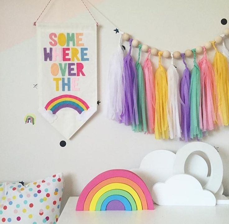 17 best ideas about rainbow room on pinterest rainbow for Rainbow kids room
