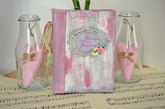 Handmade wedding guest book bride's journal by JournalShop