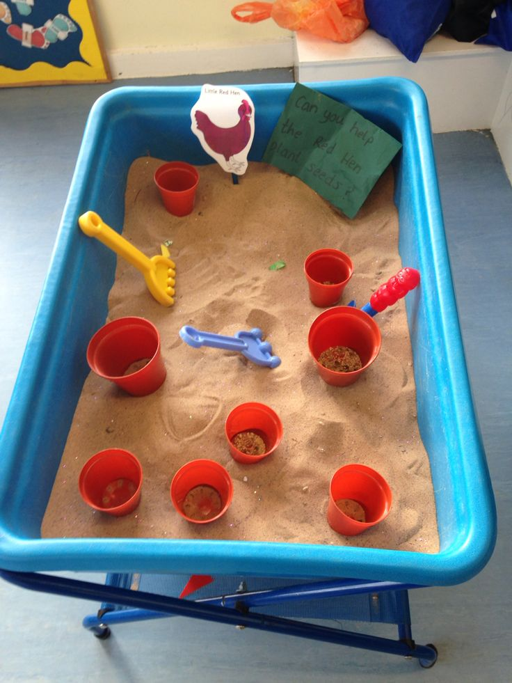 Little Red Hen sand activity