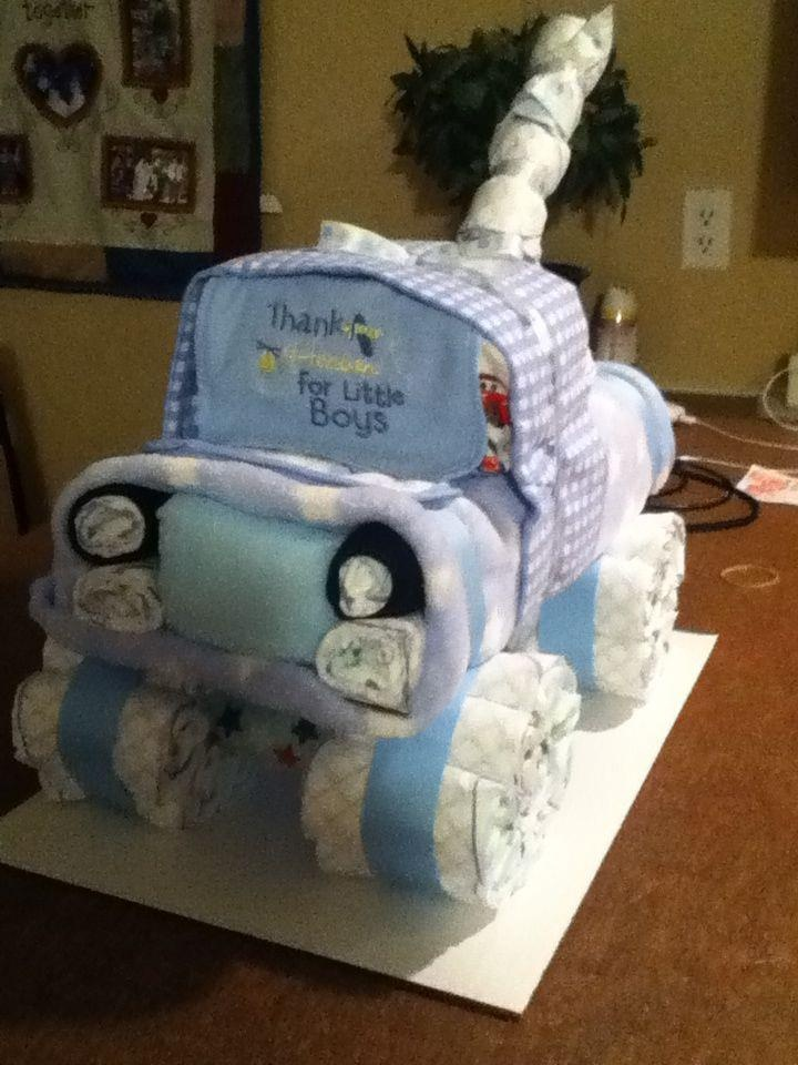 Tow Truck Jen Jen S Diaper Gifts Baby Shower Games