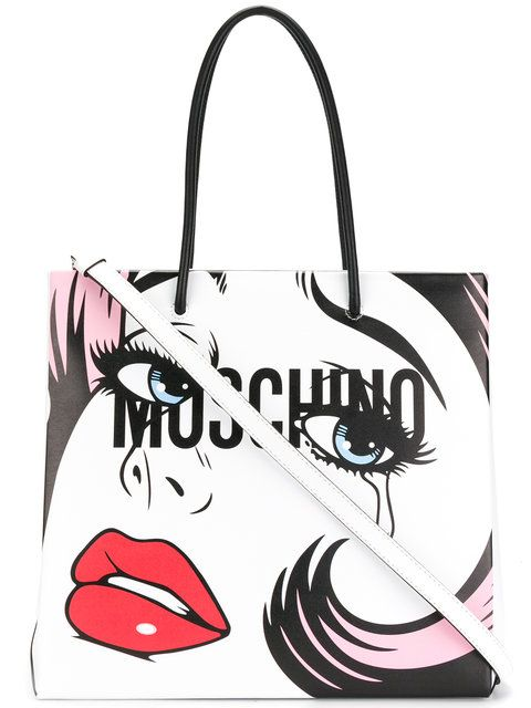 846b07421f1cd Shoppen Moschino Shopper mit Pop-Art-Print.