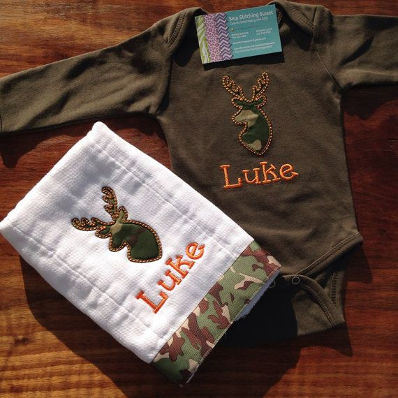 Hunting Deer Buck Personalized Baby Boy Girl Monogrammed
