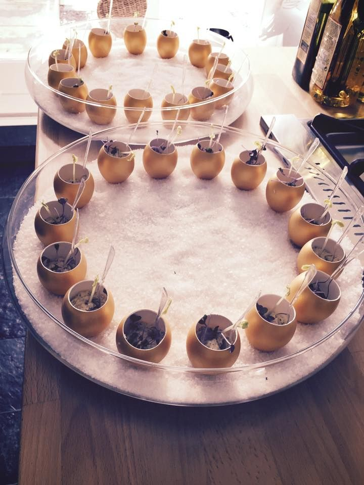 Golden Eggs Amuse - Moed Events - Gevuld eitje - Luxury style - Gouden ei