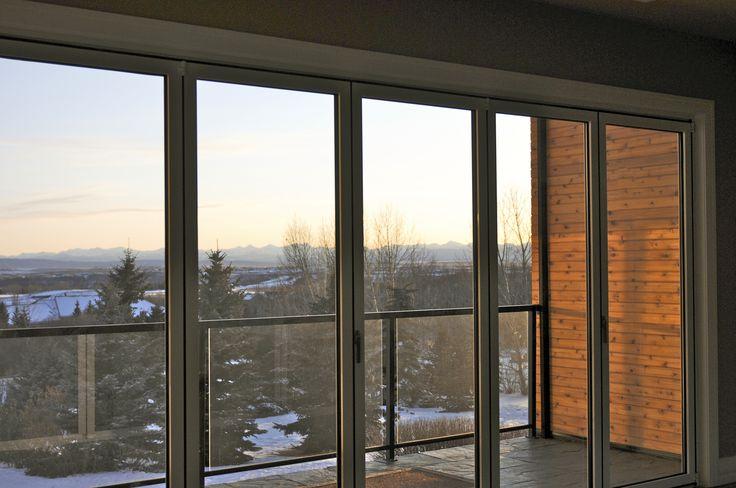 O2 Developments- Bearspaw renovation-  Folding glass wall
