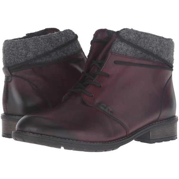 Rieker R3332 Elaine 32 (Chianti/Fumo/Granit) Women's Boots (200 CAD ...