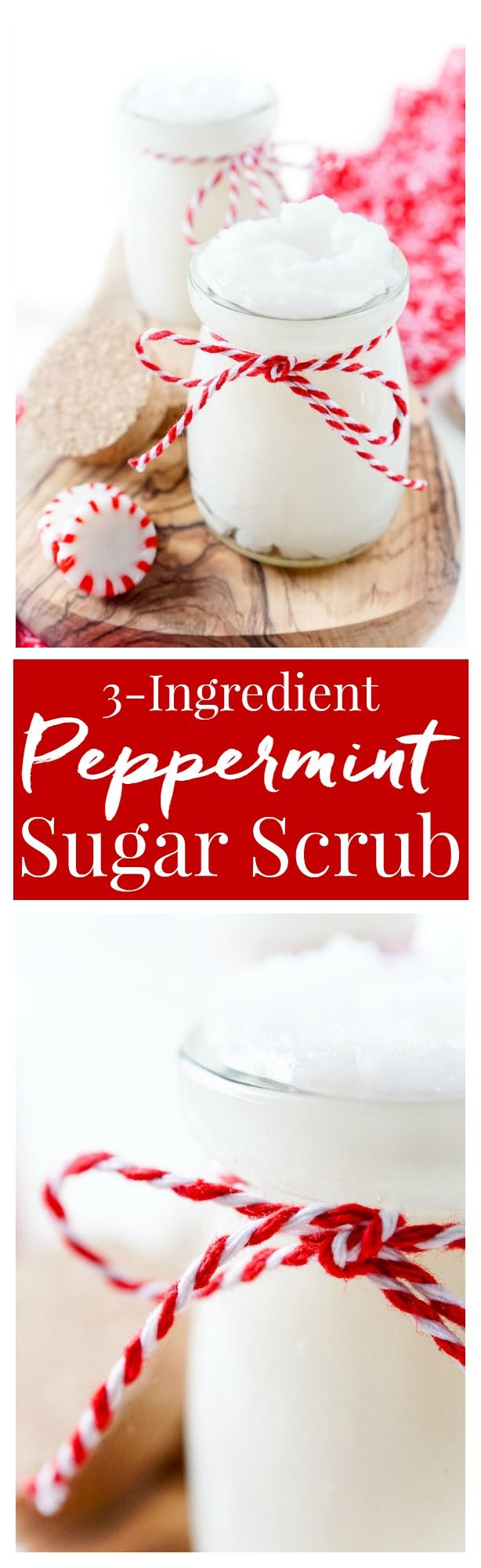 This 3-Ingredient Peppermint Sugar Scrub made my skin feel AMAZING! It's great for soothing tired muscles and reviving dry skin, it's also an easy DIY gift that can be made in less than 10 minutes!