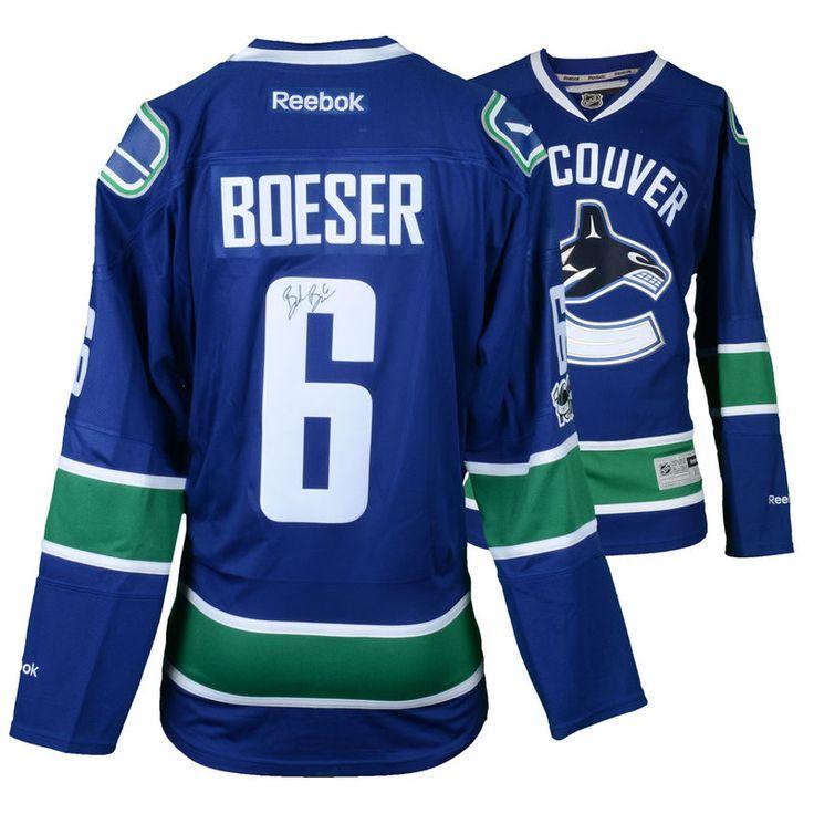 Brock Boeser Vancouver Canucks Fanatics Authentic Autographed Blue Reebok Premier Jersey