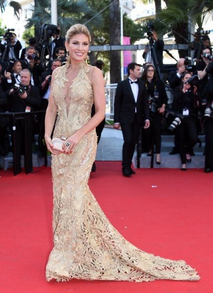 Hofit Golan in Gaurav Gupta golden gown at 67th Annual Cannes Film Festival beauty and fashion freaks2