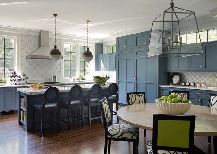 Contemporary Blue Grey Kitchen Cabinets Gray Transitional On Decorating  Ideas
