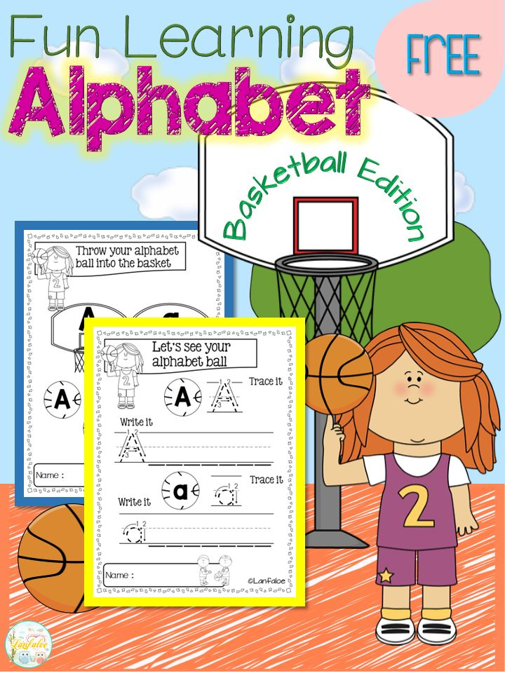 Free Fun Learning Alphabet Basketball Edition