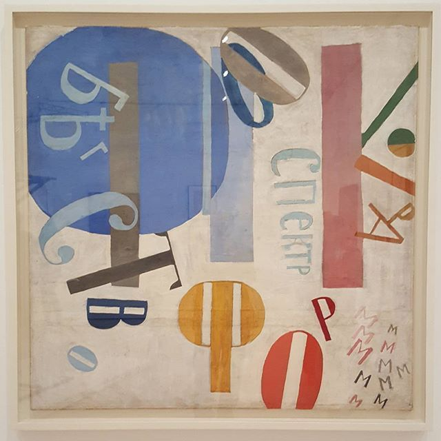 """One of my all-time favorites! Ivan Puni (Jean Pougny), Flight of Forms, 1919. In """"A Revolutionary Impulse: The Rise of the Russian Avant-Garde"""", opening Dec. 2 at @themuseumofmodernart #revolutionaryimpulse #ivanpuni #jeanpougny #russianavantgarde #russianart"""