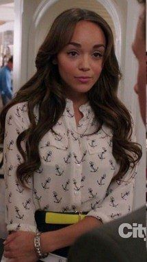 Revenge-1x03. Equipment Annabel Collarless Blouse. Ashley Davenport