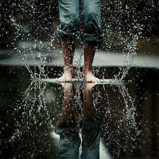 I like this picture of movement because the subject is still focused and the water adds complexity to the picture