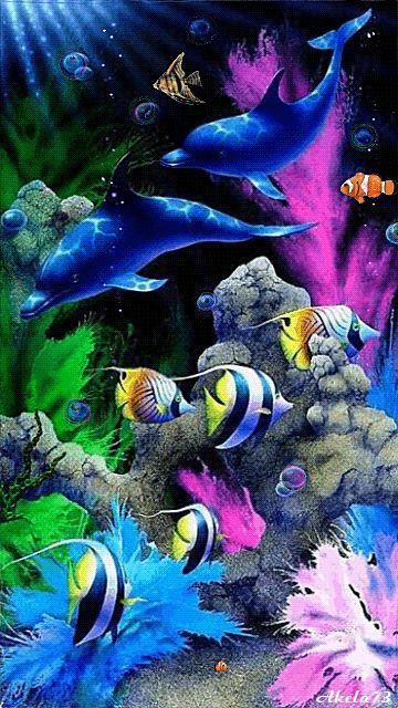 Unterwasserwelt - Animation Telefon №1019842