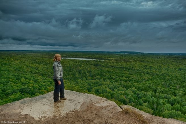 At the edge of Cup & Saucer Trail. Manitoulin Island.