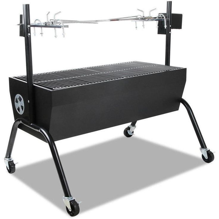 Chrome Steel BBQ Spit Roaster with Rotisserie 230V | Buy Spit Rotisseries