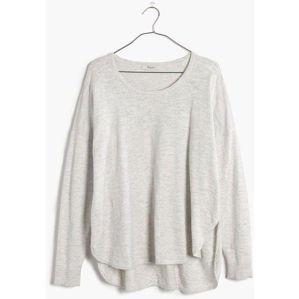 Madewell Clothing ($45) ❤ liked on Polyvore featuring tops, tops/outerwear, hthr mist, drapey top, draped tops, madewell and madewell top