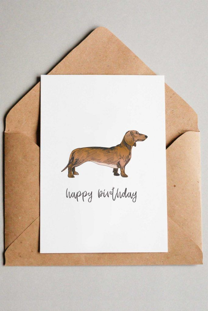 Simple Birthday Card Idea Dog Cards This Free Printable Features A