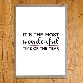 'Most Wonderful Time' Christmas Card
