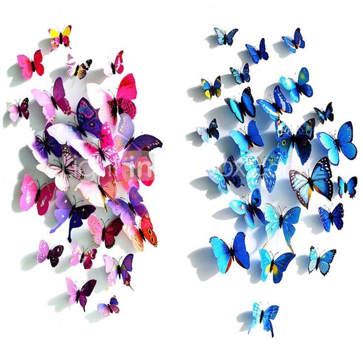 Настенные наклейки в виде бабочек (больше цветов) (12 шт.) 2015 – €107.84