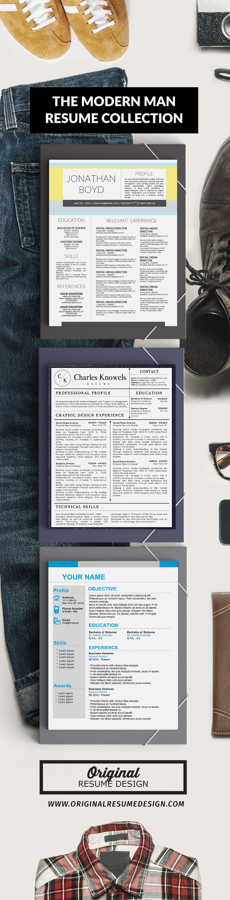 3 Modern Resume CV Designs for MS