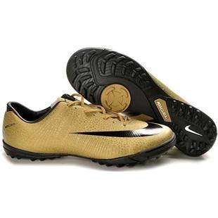 http://www.asneakers4u.com Nike Mercurial CR7 Victory II TF Turf Football Trainers Soccer Shoes Golden/Black