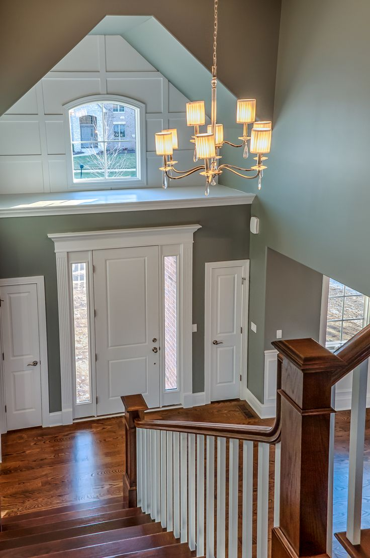 Board And Batten Two Story Foyer : Best images about entry way walls on pinterest