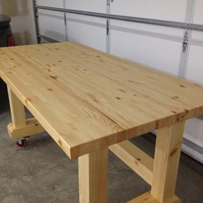 Craftsman Workbench/Work Table by NDRWoodworking on Etsy