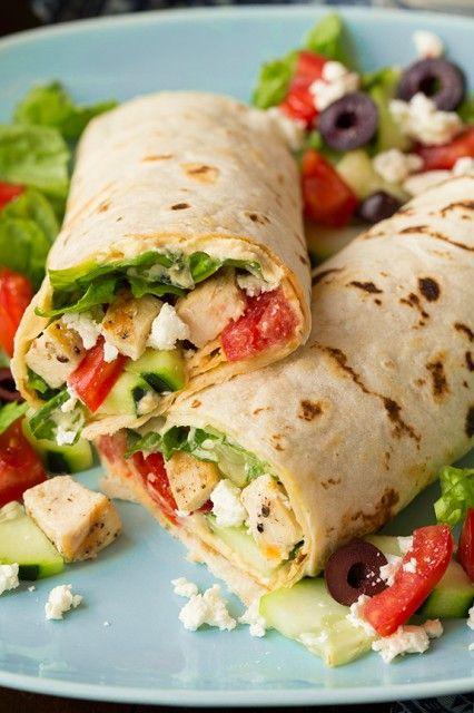 Greek+Grilled+Chicken+&+Hummus+Wrap