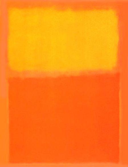 Dit oranje werk van Rothko is ook prachtig....