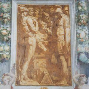 Perin del Vaga, e aiuti  (Firenze 1501 - Roma 1547) Storie di Alessandro Magno: Alessandro fa riporre in uno scrigno le opere di Omero (Sala...