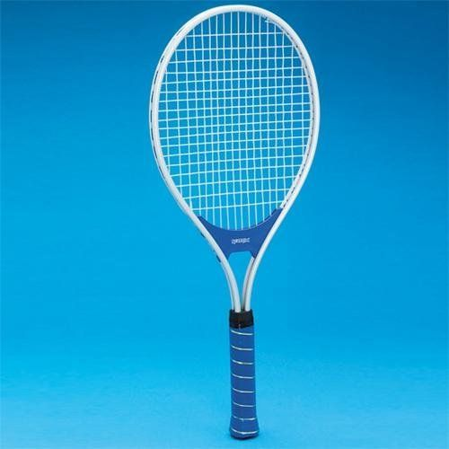 "Aluminum Junior Tennis Racquet by S Worldwide. $21.35. Junior mid-size racquet. Nylon strings, PVC 4-1/4"" grip. 24"" tennis racquet is lightweight and durable."