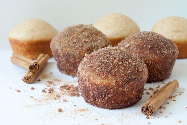 Muffins de canela-açúcar com crosta de bolo de café | Você Pode ficar para o jantar?