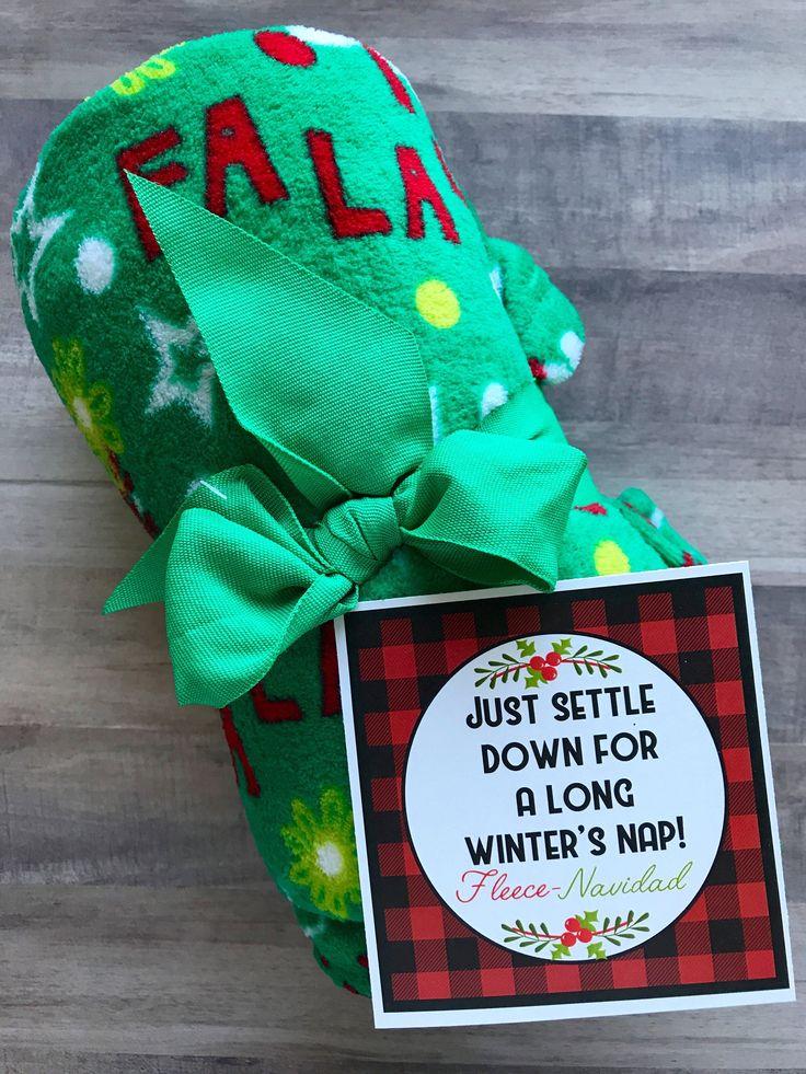 INSTANT DOWNLOAD Christmas Neighbor Gifts Fleece Blanket
