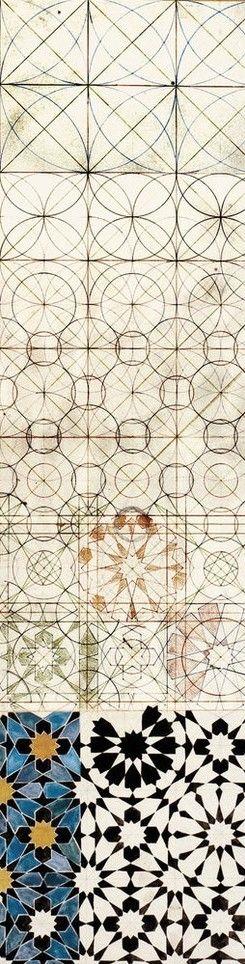 Moorish pattern - geometry progression