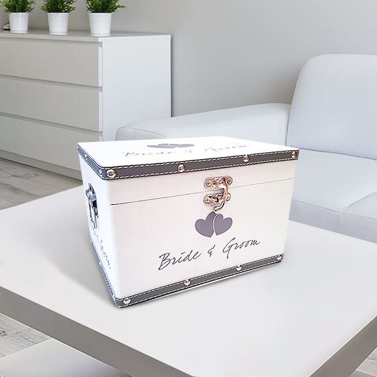 our large bride and groom keepsake box is an ideal wedding gift this large box
