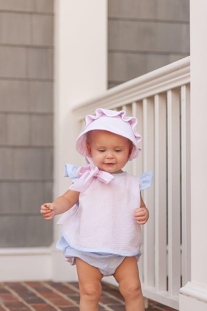 Beaufort Bonnet Pink Savannah Seersucker